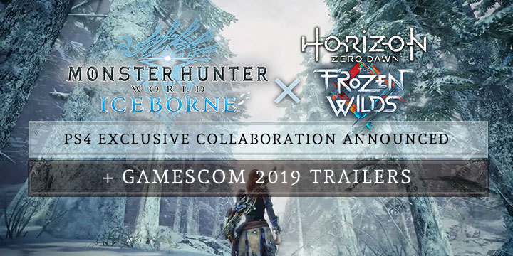Monster Hunter World: Iceborne Master Edition, Monster Hunter World, Master Edition, PlayStation 4, Xbox One, North America, US, Japan, Asia, Europe, Capcom, update, Gamescom 2019, Horizon Zero Dawn, Horizon Zero Dawn: The Frozen Wilds, trailer, screenshots