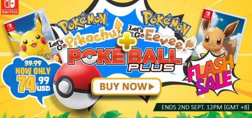Pokemon: Let's Go, Pokemon: Let's Go Pikachu, Pokemon: Let's Go Pikachu Eevee, Nintendo Switch, Switch, Flash Sale, Sale, features, Pokemon, Pokemon Let's Go