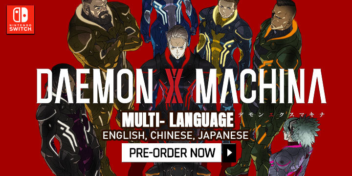 Daemon X Machina, Nintendo switch, switch, Asia, release date, gameplay, features, price, pre-order, nintendo, marvelous first studio, asia version, multi-language, chinese, english,japanese