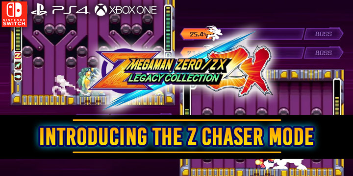 Mega Man Zero / ZX Legacy Collection, Mega Man, Rock Man, Capcom, PS4, XONE, Switch, PlayStation 4, Xbox One, Nintendo Switch, Pre-order, US, update, Japan, TGS 2019, Tokyo Game Show 2019, Z Chaser Mode