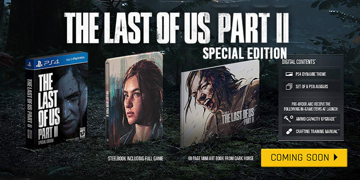The Last of Us Part II, The Last of Us, PS4, PlayStation 4, PlayStation 4 Exclusive, Sony Interactive Entertainment, Sony, Naughty Dog, Pre-order, US, Europe, Asia