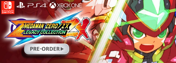 Mega Man Zero / ZX Legacy Collection, Mega Man, Rock Man, Capcom, PS4, XONE, Switch, PlayStation 4, Xbox One, Nintendo Switch, Pre-order, US