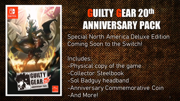 Guilty Gear, Guilty Gear [20th Anniversary Edition], Guilty Gear 20th Anniversary Edition, Guilty Gear XX Accent Core Plus R, Switch, Nintendo Switch, Europe, Guilty Gear 20th Anniversary Edition, Asia, update, US