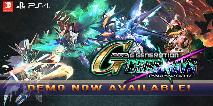 Gundam, SD Gundam G Generation Cross Rays, Bandai Namco, PS4, Switch, Nintendo Switch, PlayStation 4, Asia, Japan, updates, demo