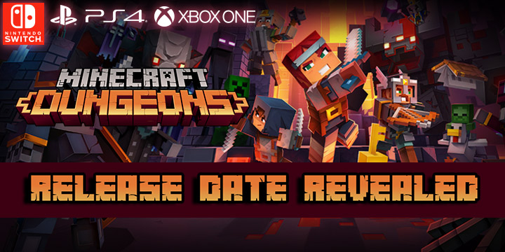 minecraft dungeons, double eleven,mojang, xbox game studios , us, north america,europe, release date, gameplay, features, price,pre-order now, ps4, playstation 4, xone, xbox one, switch, nintendo switch