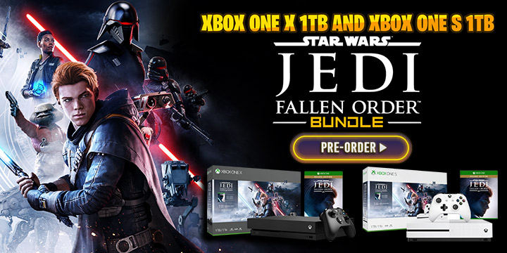 Xbox One S 1TB (Star Wars Jedi: Fallen Order Bundle), microsoft, europe, japan, asia, release date, gameplay, features, price,pre-order now, xone, xbox one, Xbox One X 1TB (Star Wars Jedi: Fallen Order Bundle)