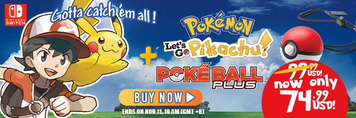 Pokemon: Let's Go Pikachu!,Pokemon: Let's Go Eevee! ,nintendo switch,switch, us, north america, release date, gameplay, features, price,buy now, sale, Pokemon: Let's Go Pikachu & Pokemon: Let's Go Eevee bundle sale