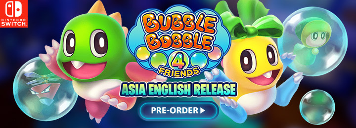 Bubble Bobble 4 Friends, 泡泡龍 4 伙伴, Nintendo Switch, Switch, Asia, English, English Subtitles