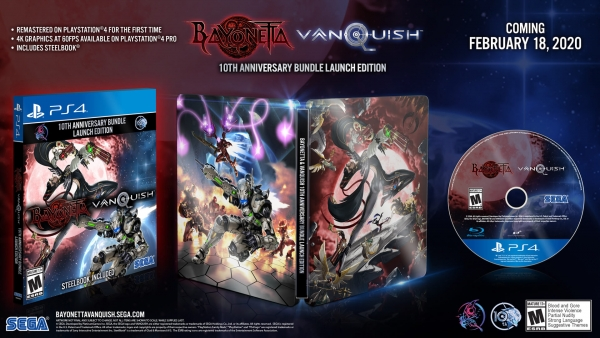 Bayonetta & Vanquish, Bayonetta & Vanquish 10th Anniversary Bundle Launch Edition, Bayonetta, Vanquish, Launch Edition, PlayStation 4, Xbox One, PS4, XONE, Sega, PlatiniumGames, Pre-order, US, Europe