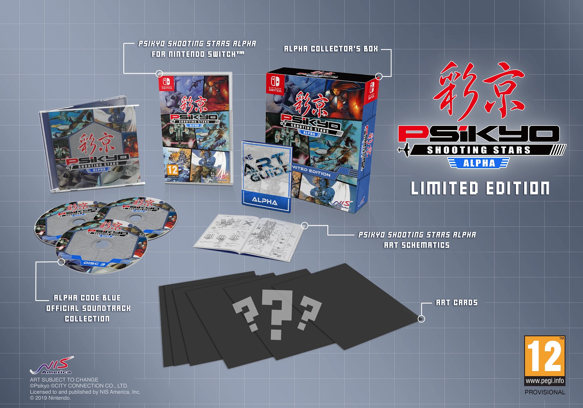 Psikyo Shooting Stars Alpha, Psikyo Shooting Stars, Psikyo, Switch, Nintendo Switch, Europe, Australia, West, Pre-order, Limited Edition, NIS America