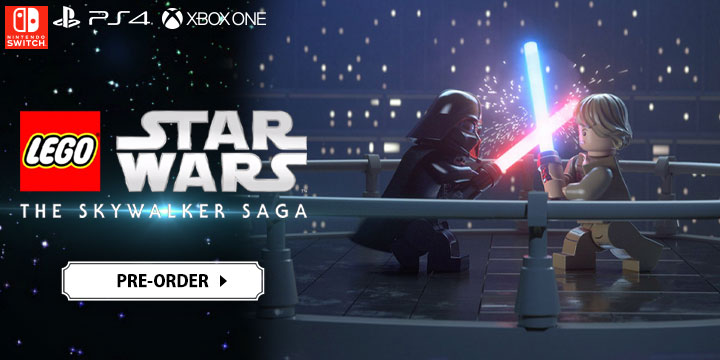 lego star wars game, lego star wars: the skywalker saga, xone, xbox one,switch, nintendo switch, ps4, playstation 4,us, north america, europe, release date, gameplay, features, price, pre-order now, traveller's tales, warner bros interactive entertainmet