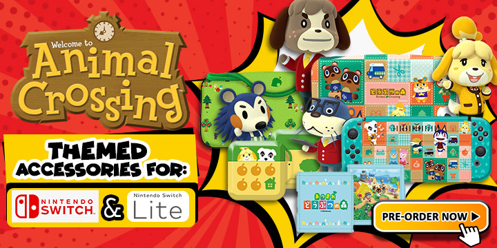 New Animal Crossing Themed Accessories For Nintendo Switch And Lite