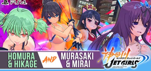 Kandagawa Jet Girls DX Jet Pack, Kandagawa Jet Girls, Marvelous, PS4, PlayStation 4, Japan, release date, gameplay, features, price, trailer, screenshots, DLC, DLC character, Senran Kagura DLC characters, Senran Kagura, news, update, new trailer, Hikage, Homura, Murasaki, and Mirai, new gameplay trailer