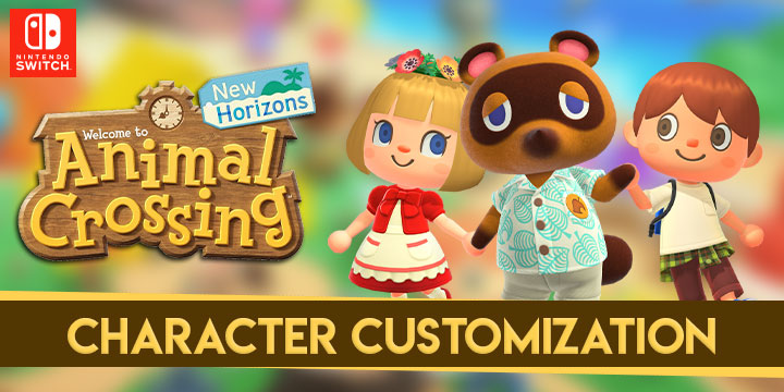 Animal Crossing New Horizons Character Customization Game Clips