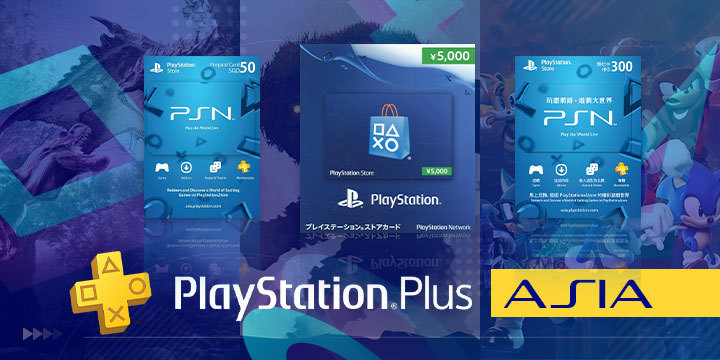 PlayStation 4, PlayStation, PlayStation Plus, Asia, PSN Cards, PSN, Monster Hunter World, Shadow of the Colossus, Sonic Forces