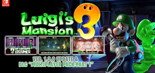 Luigi's Mansion 3, Nintendo Switch, Switch, Japan, AU, EU, US, Australia, Europe, North America, release date, gameplay, features, price, pre-order, Nintendo, Next level games, Luigi's Mansion, update, Version 1.3.0 update, patch notes, DLC Multiplayer Pack, Multiplayer Pack-Part 1
