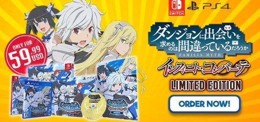 Is It Wrong to Try to Pick Up Girls in a Dungeon? Infinite Combate, Is It Wrong to Try to Pick Up Girls in a Dungeon Infinite Combate, Danjon ni Deai o Motomeru no wa Machigatteiru Darou ka? Infinite Combate, price, PS4, Nintendo Switch, Switch, PlayStation 4, Asia, Danmachi, Limited Edition, Danmachi Limited Edition, sale