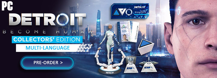 Detroit: Become Human [Collector's Edition], PC, Windows, release date, features, price, pre-order, Asia, Detroit Become Human, Collector's Edition, Code in a Box, Multi-language, Quantic Dream