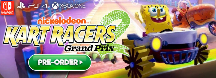 Nickelodeon Kart Racers 2: Grand Prix, PS4, PlayStation 4, Nickelodeon Kart Racers 2, Switch, Nintendo Switch, Bamtang Games, North America, US, release date, features, price, pre-order now, trailer, XONE, Xbox One, GameMill Entertainment, Nickelodeon Kart Racers 2 Grand Prix