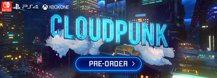 Cloudpunk, PlayStation 4, Xbox One, Nintendo Switch, Switch, PS4, XONE, gameplay, features, release date, price, trailer, screenshots, Merge Games