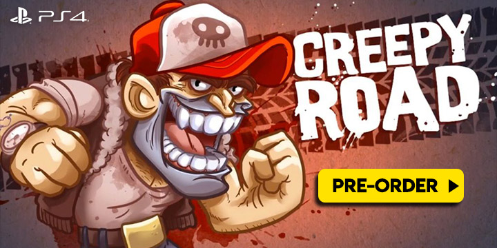 Creepy Road, Creepyroad, Red Art Games, PS4, PlayStation 4, Europe, release date, screenshots, gameplay, price, trailer, pre-order now, Groovy Milk, physical release, physical edition