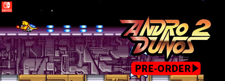 Andro Dunos 2, Andro Dunos, Pixel Heart, arcade, shooter, price, pre-order, gameplay, Nintendo Switch, Switch