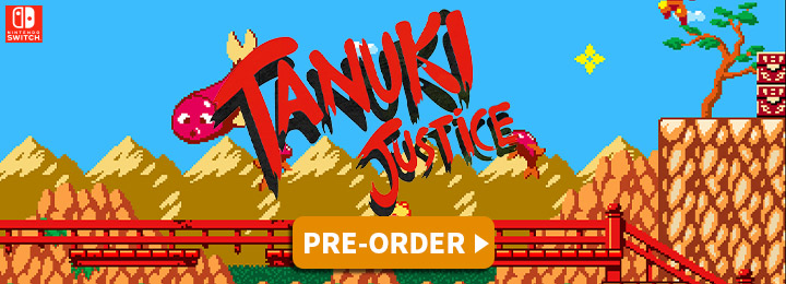 Tanuki Justice, PixelHeart, Storybird Games, Just For Games, Switch, Nintendo Switch, Europe, release date, gameplay, features, price, screenshots, trailer
