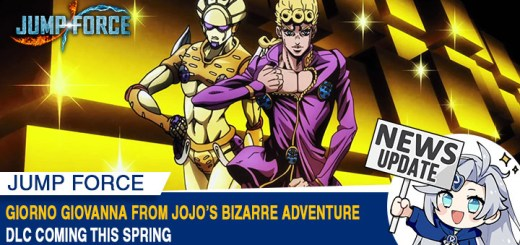 Jump Force, PlayStation 4, Xbox One, gameplay, price, features, US, North America, Europe, update, news,  DLC, release date, Switch, Jump Force: Deluxe Edition, Giorno Giovanna, JoJo's Bizarre Adventure, Character Pass 2