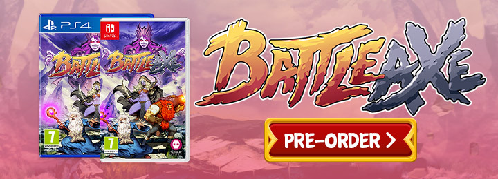 Battle Axe, Numskull Games, Henk Nieborg, PS4, PlayStation 4, Nintendo Switch, Switch, Europe, US, North America, release date, price, pre-order, features, Trailer, Screenshots