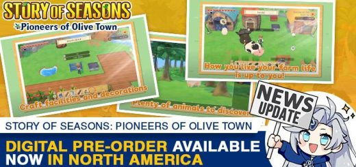 Story of Seasons, Marvelous, Story of Seasons: Pioneers of Olive Town, gameplay, features, release date, price, trailer, screenshots, Switch, Nintendo Switch, update, Japan, US, Asia, Europe, digital pre-order