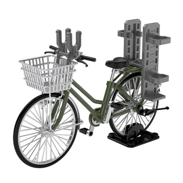 Little Armory LM007 1/12 Scale Model Kit: School Bike (For Designated Defense School) Olive Drab