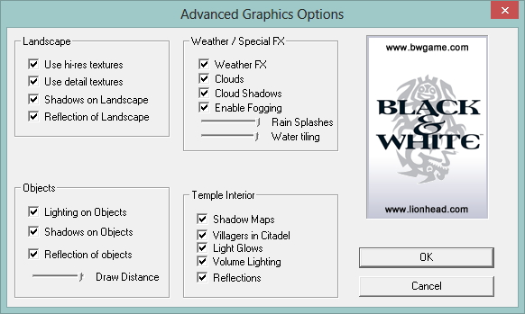 running black and white on modern pc s