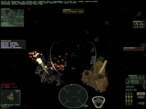 There are some epic space battles in this game.