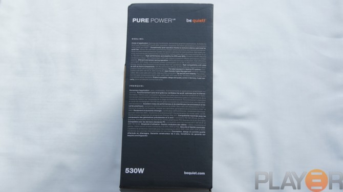 Be Quiet Pure Power L8 530W Box Side 1