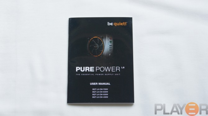 Be Quiet Pure Power L8 530W Users Manual