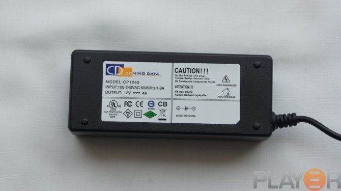 Icy Dock MB662U3-2S Power Adaptor Back