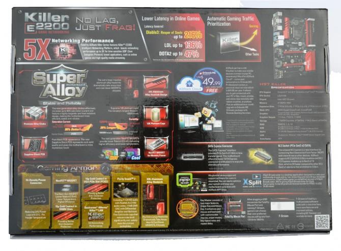 ASRock Fatal1ty H97 Killer pack back