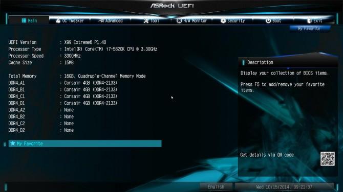 ASRock X99 Extreme6 BIOS1