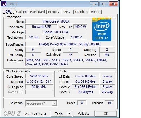 ITX CPU-Z Stock