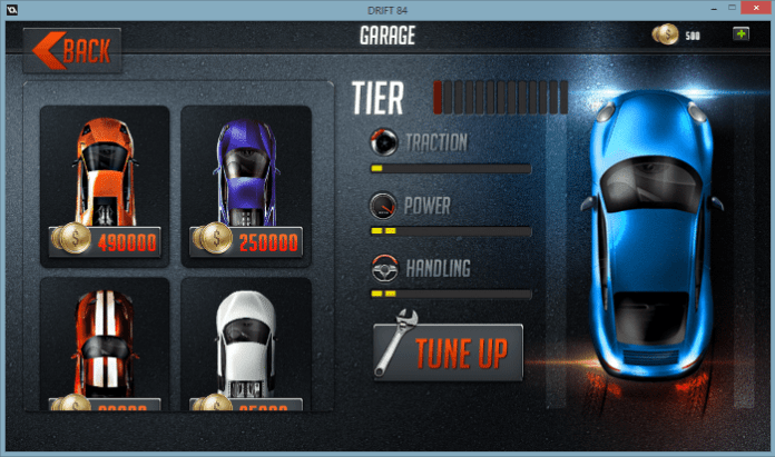 You can also buy new vehicles from within the garage menu