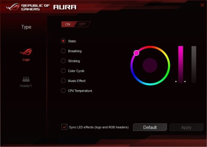 ASUS AURA Software 2