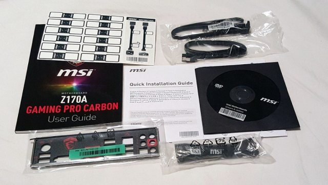 MSI Z170A GAMING PRO CARBON - Accessories