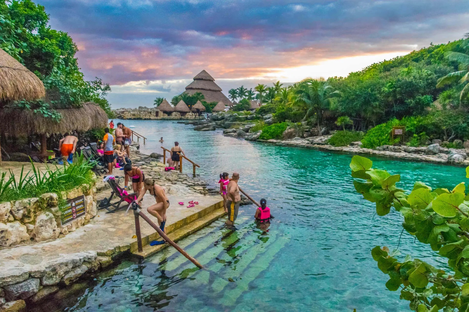 People swimming at xcaret