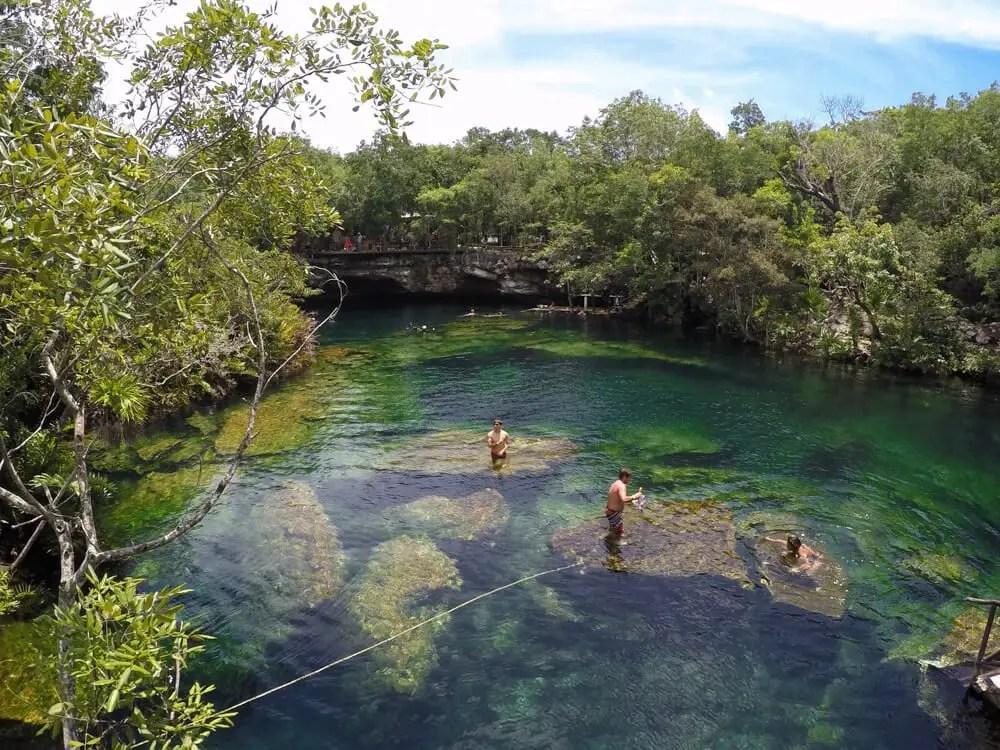 cenote snorkeling garden eden