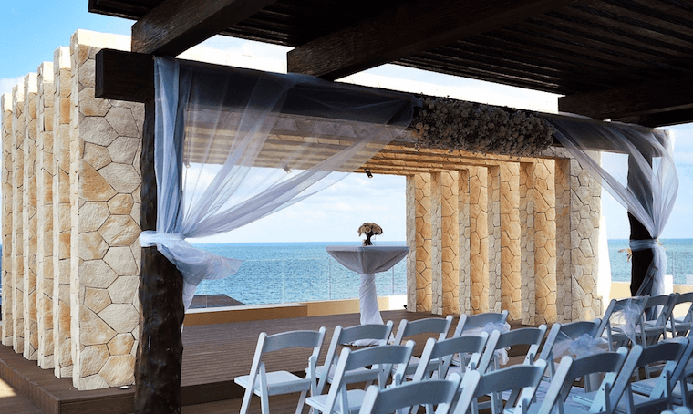 Sky terrace wedding location at the Royalton Riviera Cancun