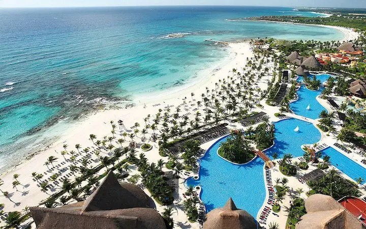 Arial view of Barcelo Maya for Weddings