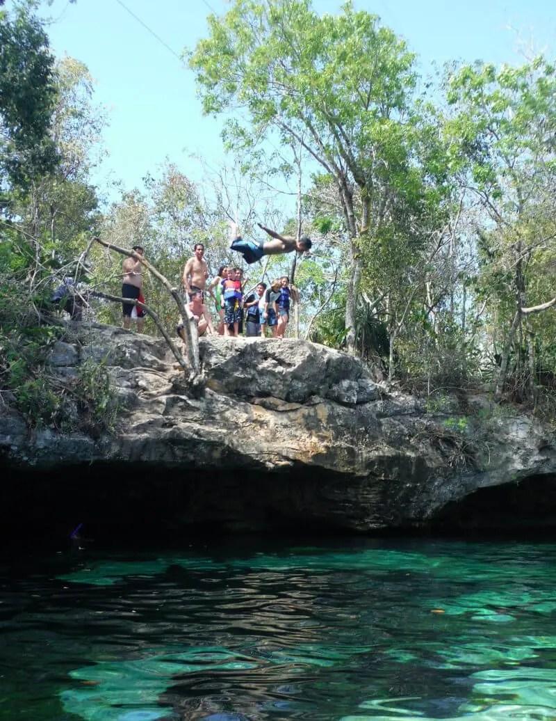 cenote azul cliff jump