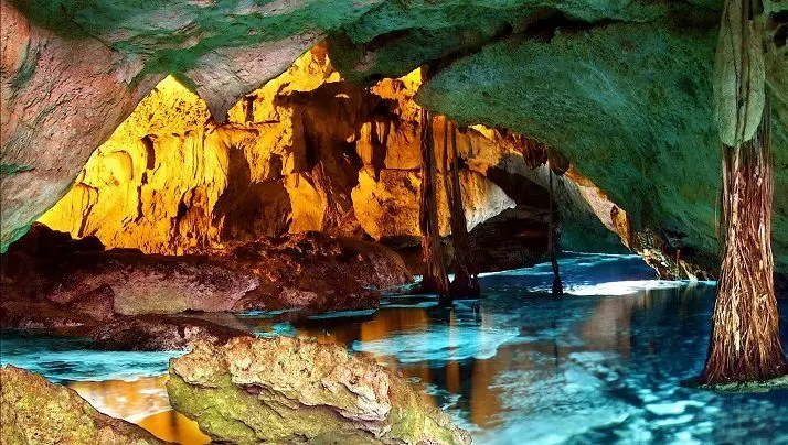Cavernous cenote in the Riviera Maya