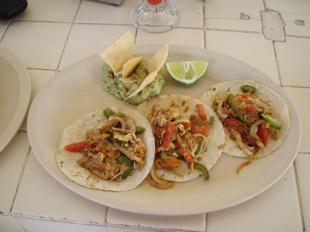 Tacos at Loncheria Akumalito in Akumal