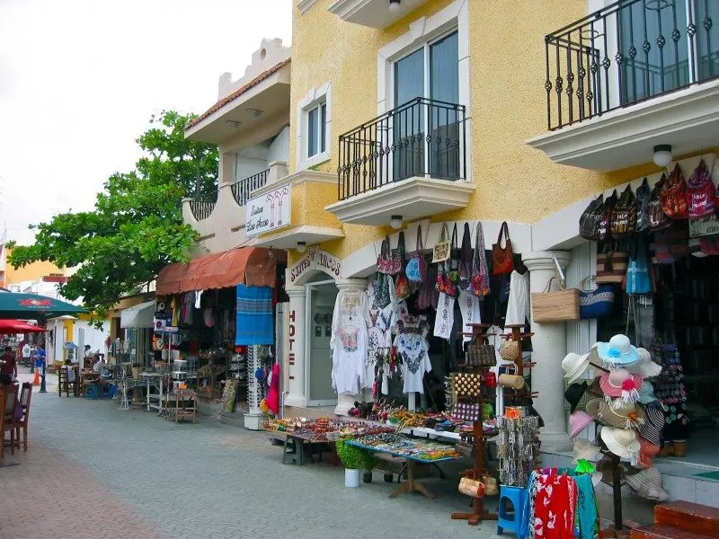 Boutiques and shops at Isla mujeres